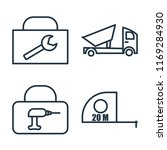 set of 4 vector icons such as... | Shutterstock .eps vector #1169284930