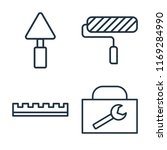 set of 4 vector icons such as... | Shutterstock .eps vector #1169284990