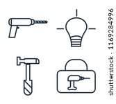 set of 4 vector icons such as... | Shutterstock .eps vector #1169284996