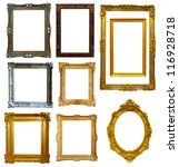 Set Of Few Gold Picture Frame....