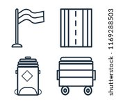 set of 4 vector icons such as... | Shutterstock .eps vector #1169288503