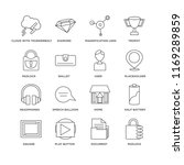 set of 16 simple line icons... | Shutterstock .eps vector #1169289859