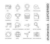 set of 16 simple line icons... | Shutterstock .eps vector #1169289880