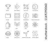 set of 16 simple line icons... | Shutterstock .eps vector #1169290060