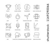 set of 16 simple line icons... | Shutterstock .eps vector #1169290066