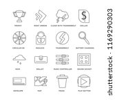set of 16 simple line icons... | Shutterstock .eps vector #1169290303