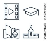 set of 4 vector icons such as... | Shutterstock .eps vector #1169291020