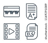 set of 4 vector icons such as... | Shutterstock .eps vector #1169291089