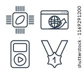 set of 4 vector icons such as... | Shutterstock .eps vector #1169291200