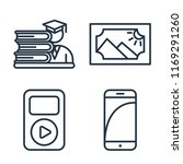 set of 4 vector icons such as... | Shutterstock .eps vector #1169291260