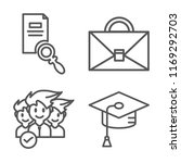 set of 4 vector icons such as... | Shutterstock .eps vector #1169292703