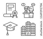 set of 4 vector icons such as... | Shutterstock .eps vector #1169292706