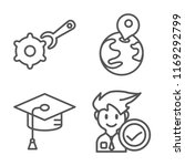 set of 4 vector icons such as... | Shutterstock .eps vector #1169292799