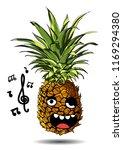 cute fresh pineapple cartoon... | Shutterstock .eps vector #1169294380
