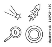 set of 4 vector icons such as... | Shutterstock .eps vector #1169294650
