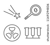 set of 4 vector icons such as... | Shutterstock .eps vector #1169294836