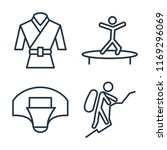 set of 4 vector icons such as... | Shutterstock .eps vector #1169296069
