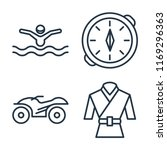 set of 4 vector icons such as... | Shutterstock .eps vector #1169296363
