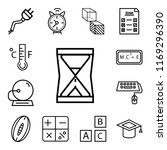 set of 13 linear icons such as...
