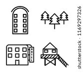 set of 4 vector icons such as... | Shutterstock .eps vector #1169297326