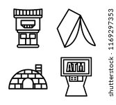 set of 4 vector icons such as... | Shutterstock .eps vector #1169297353