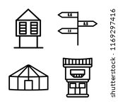 set of 4 vector icons such as... | Shutterstock .eps vector #1169297416