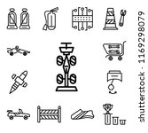 set of 13 linear editable icons ... | Shutterstock .eps vector #1169298079