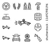 set of 13 linear editable icons ... | Shutterstock .eps vector #1169298196
