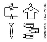 set of 4 vector icons such as e ...