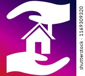 protect house and hand icon...