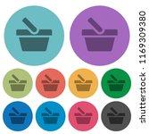 shopping basket darker flat... | Shutterstock .eps vector #1169309380