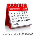 september 2019 calendar.... | Shutterstock . vector #1169310643