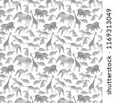 animals abstract gray seamless... | Shutterstock . vector #1169313049