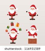set of santa claus. vector... | Shutterstock .eps vector #116931589