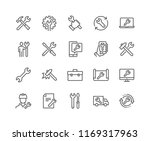 simple set of repair related... | Shutterstock .eps vector #1169317963