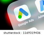 Small photo of Sankt-Petersburg, Russia, August 31, 2018: Google Ads AdWords application icon on Apple iPhone X screen close-up. Google Ad Words icon. Google ads Adwords application. Social media network