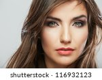 woman hair style fashion... | Shutterstock . vector #116932123