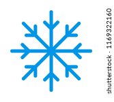 snow flake ice  | Shutterstock .eps vector #1169322160