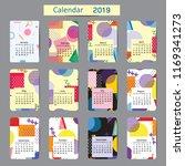 cute calendar for 2019 ... | Shutterstock .eps vector #1169341273