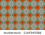 raster bright ornament of... | Shutterstock . vector #1169345386