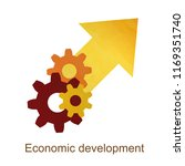 growth economic development... | Shutterstock .eps vector #1169351740