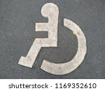 disabled icon sign in the...   Shutterstock . vector #1169352610