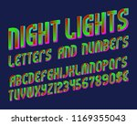 night lights font of letters ... | Shutterstock .eps vector #1169355043
