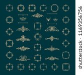 retro rosette and victorian... | Shutterstock .eps vector #1169356756