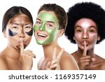 beautiful multi ethnic girls... | Shutterstock . vector #1169357149