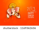 illustration of lord ganpati... | Shutterstock .eps vector #1169362636