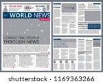 different articles in newspaper.... | Shutterstock . vector #1169363266