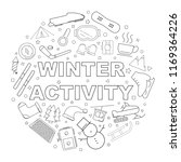 winter activity background from ... | Shutterstock .eps vector #1169364226