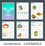 design of annual reports with... | Shutterstock . vector #1169364313