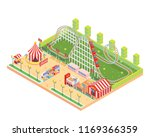 modern isolated circus and...   Shutterstock .eps vector #1169366359